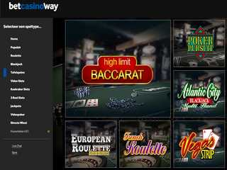 Betway Casino Tafelspellen