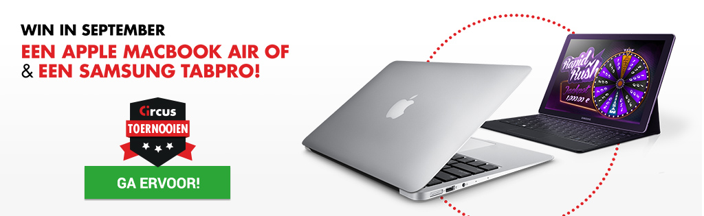 Win een MacBook Air of een Samsung TabPro S bij Circus.be