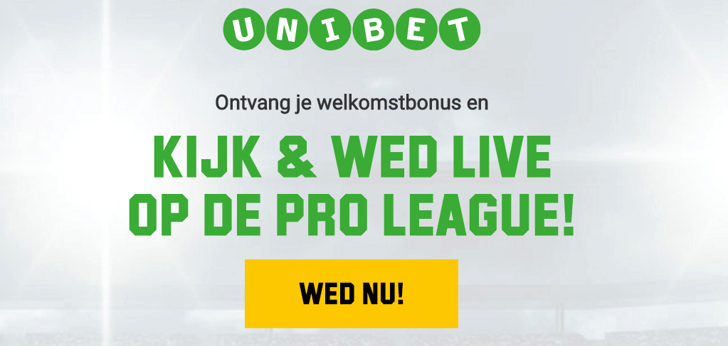 Kijk en wed live op de Jupiler Pro League