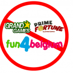 GrandGames, Primefortune en Fun4Belgium stoppen per direct in België
