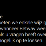 betway offline in België